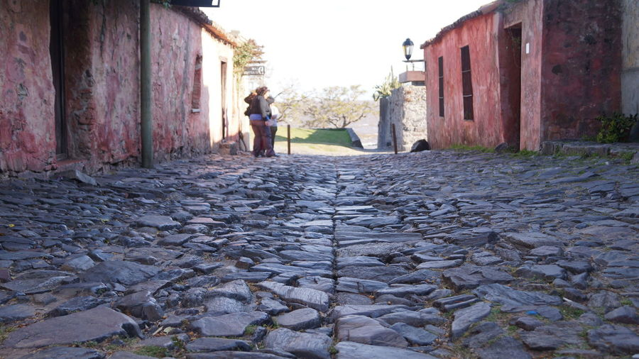 Colonia del Sacramento, Colonia, Uruguay. September 2015. Alley Architecture Built Structure Check This Out Day Diminishing Perspective Leisure Activity Lifestyles Narrow Outdoors Sky Surface Level The Way Forward Urban Vanishing Point Walkway
