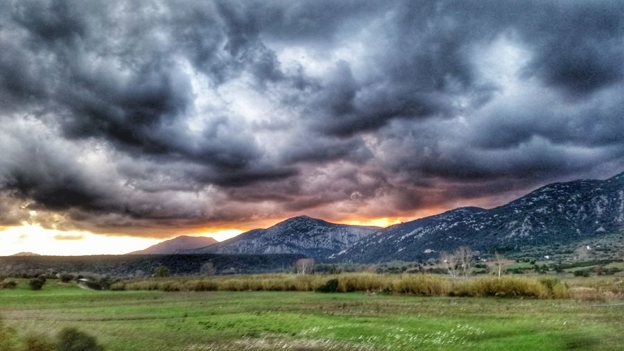 VallediCedrino Sardegna Sunlight Weather Thunderstorm Dramatic Sky Beauty In Nature Cloud - Sky Landscape Outdoors Extreme Weather Magnificentsardegna Nature Scenics Sky Dramatic Sky Sun_collection, Sky_collection, Cloudporn, Skyporn Sardegna Colours Storm Cloud Rural Scene Cloudscape