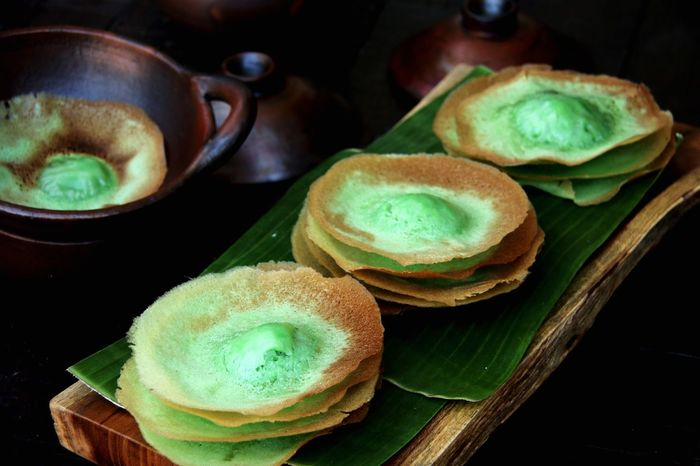 Kue Ape Pandan, the Traditional Coconut Milk and Pandan Pancakes from Betawi, Jakarta Traditional Food Betawi Street Food Jakarta INDONESIA Indonesian Food Snack Food Dessert Pancakes Pandan Rice Flour Coconut Milk Kue Kue Ape Food And Drink Food Freshness Healthy Eating Indoors  No People Close-up Day Ready-to-eat