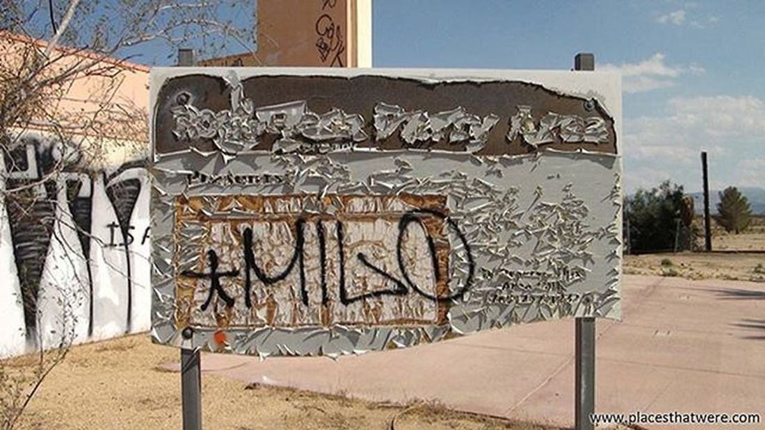 I have no idea what this sign used to say. Maybe Milo knows. Abandoned California Urbanexploration Urbex Abandonedplaces Lakedolores Picoftheday Newberrysprings Abandonedcalifornia Abandonedamerica Rockahoola Photography Amazingplaces Waterpark Mojave MojaveDesert Abandonedbuilding Signofthetimes