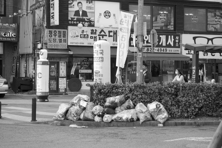 Adult City Day Korea One Person Outdoors People Rubbish Seoul