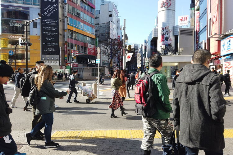 Urban Winter Street City Shibuya Tokyo Japan Shibuya Crossing Shibuya109 Architecture Building Exterior Built Structure Group Of People City Life Walking Real People Large Group Of People Crowd Transportation Men Women Road Lifestyles Day City Street Adult Outdoors Office Building Exterior