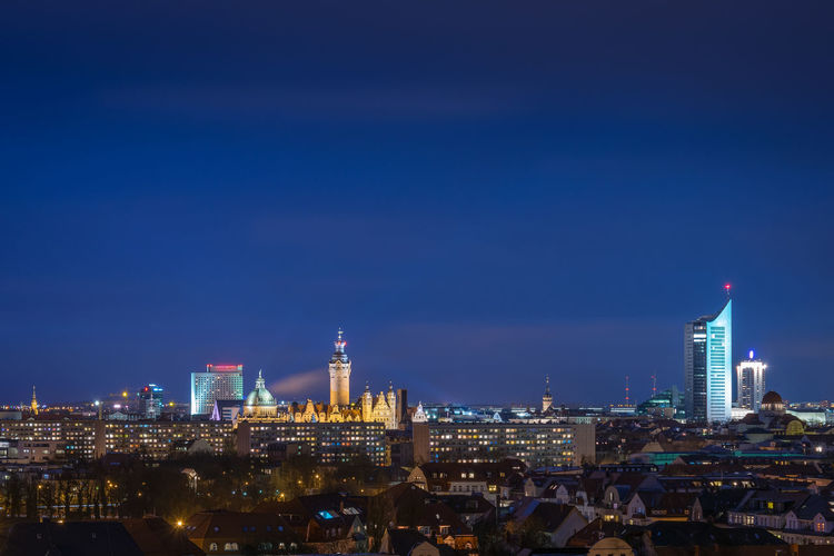The city of Leipzig at dusk Leipzig Travel View Architecture Building City Cityscape Destination Dusk Fockeberg Germany Illuminated Landmark Nightfall Office Building Exterior Sachsen Sky Skyscraper Tower Uniriese Urban Urban Skyline HUAWEI Photo Award: After Dark #urbanana: The Urban Playground