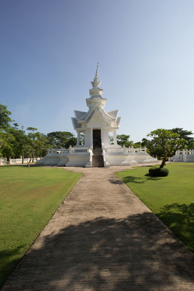 The White temple ASIA Buddhism Chaing Mai Religion Sky Temple Thailand Wat Rong Khun White