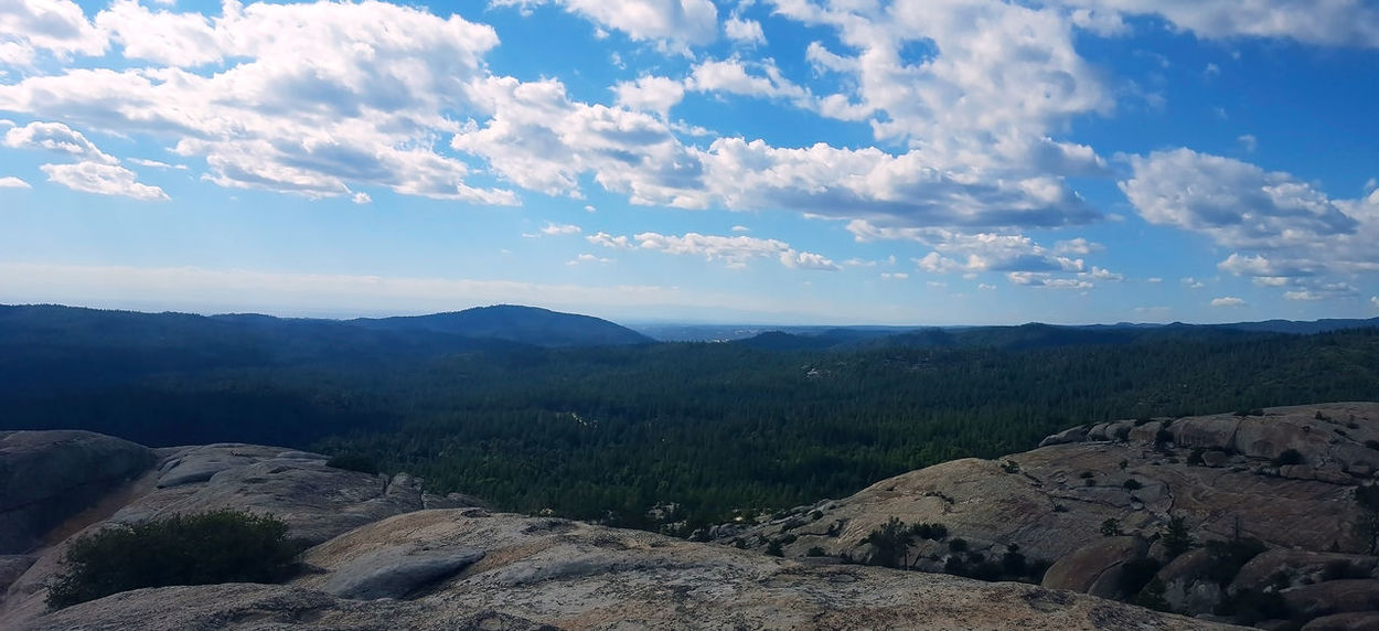 View from Bald Rock in northern California Bald Rock Beauty In Nature Day Landscape Mountain Nature No People Outdoors Scenics Sky Tranquil Scene Tranquility