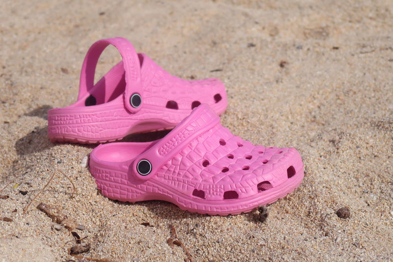 Pink kids beach sandals Kids Summer Beach Shoe Summertime Relaxation Holiday Travel Tourism Vacation Outdoors Sand Close Up Pair Beach Life Vacations Sandals Rubber Season  Close-up No People Pink Color Tourism Destination Personal Accessory Flip-flop Two Objects