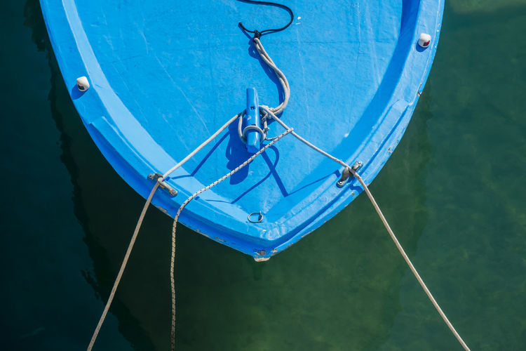 Background Blue Boat Close-up Closeup Day Fishing Fishing Boat Fishing Boats Fishing Time Nature Nautical Nautical Equipment Nautical Theme Nautical Vessel No People Outdoors Port Ropes Sea Sea Life Sealife Water