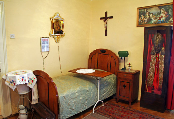Beatified Cardinal Alojzije Stepinac,Krasic sanctuary,his sleeping room with the bed on which he died,Croatia,Europe,5 Alojzije Cardinal Stepinac Catholicism Christianity Croatia Eu E ELe... Europe Krasic Stepinac Stepincevo Beatified Bed Bedroom Birth Culture Death History Home Interior Indoors  Inmemoriam Memorial Museum Religion Sanctuary