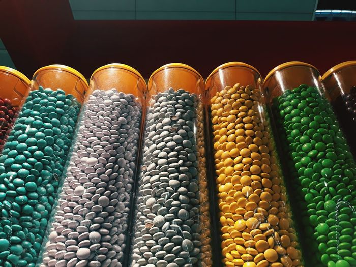 Legume Family Multi Colored Arrangement Agriculture Close-up Food And Drink Sweet Food For Sale Display Retail Display Window Display Raw Market Price Tag Shop