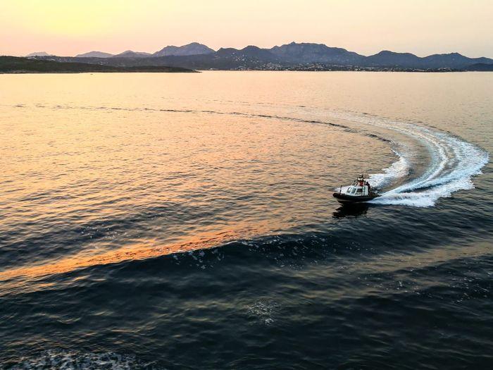 Sunset Nautical Vessel Landscape Water Outdoors Nature Sea Scenics No People Sky pilot ship port First Eyeem Photo