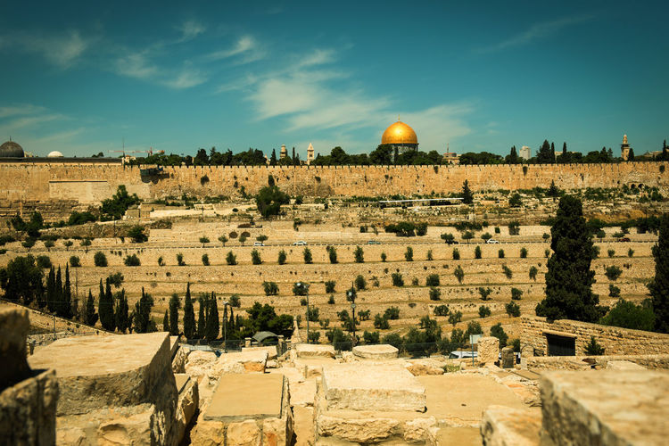 Holy city of Jerusalem, Israel, vintage picture Ancient Architecture Christian City Cityscape Jerusalem Israel Jewish Palestine Panorama Ancient Architecture Architecture Building Exterior Built Structure Destination Holy City Israel Jerusalem Jerusalem❤ Muslim Outdoors Pilgrimage Religions Temple Mount Urban Vintage