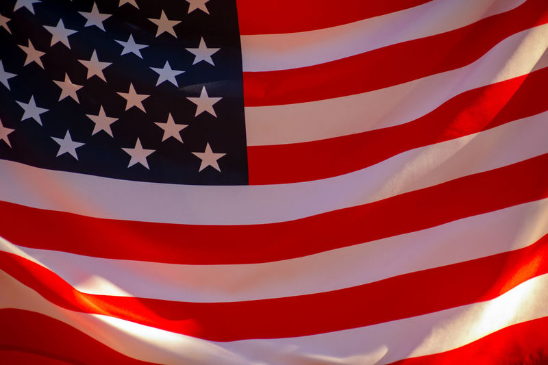 USA flag Flag Patriotism Striped Shape No People Red Star Shape Backgrounds Pattern White Color Full Frame Close-up Pride Textile Independence Freedom Symbol