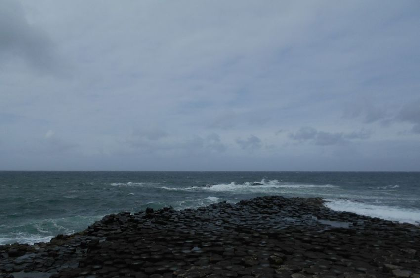 Sea Horizon Over Water Water Nature Beauty In Nature No People Wave Outdoors Sky Day EyeEmNewHere Your Ticket To Europe The Week On EyeEm Giant's Causeway Northireland Großbritannien Nordirland Wave Landscape Beauty In Nature Nature Lost In The Landscape Connected By Travel