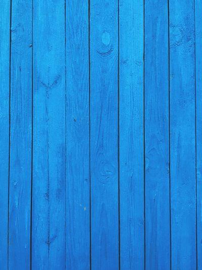 Full frame shot of blue wooden fence