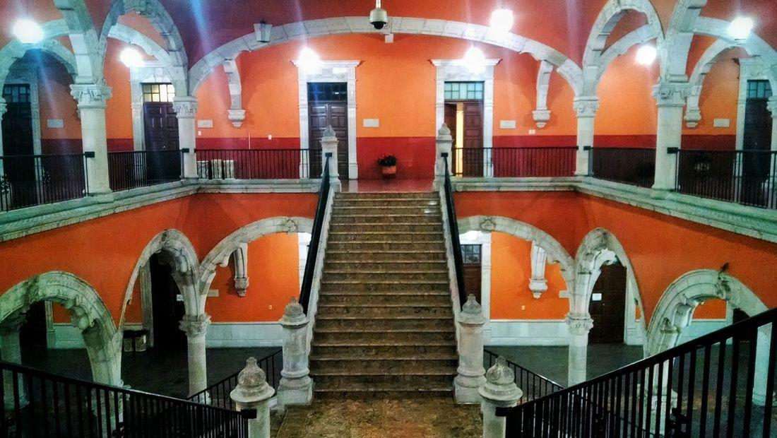 """Escaleras Centrales de Palacio de Gobierno"" Aguascalientes Mexico"