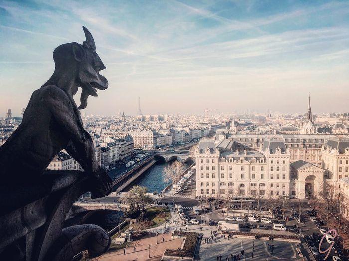 Paris Notre Dame De Paris Gargouille Gargoyle Wallpaper Cityscape