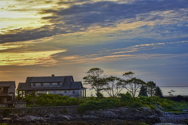 Kennebunkport Maine Architecture Beauty In Nature Building Building Exterior Built Structure Cloud - Sky Nature No People Outdoors Plant Sky Sunset Tranquility Tree Water