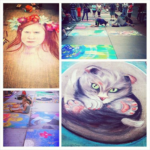 Streetartists Streetart Syracuseny Artsandcraftsfest Painting In Progress Colorful People Watching Streetphotography