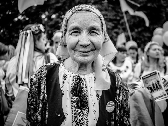 This is fabulous Ukrainian lady that I met on Vyshyvanka March this year in London. EyeEm Selects Street Maxgor.com People Rawstreets Real People Cıty Life Olympus Pen-f Street Photography Street Portraiture Street Fashion Portrait Street Style Maxgor Lifestyles Stranger Streetlife Monocrome Photography Street Portrait Ukrainian  Vyshyvanka