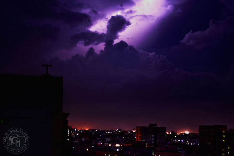 Night Purple Sky Thunderstorm Lightning No People Outdoors Power In Nature Silhouette Rainy Days Raining Cityscape City Cities At Night City Landscape Nightphotography Nightshot Summer Thunder Thunderstorms First Eyeem Photo