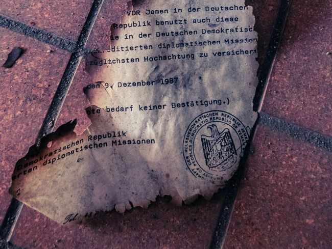 A Scorched Document Abandoned Iraqi  Embassy GDR DDR Lostplaces Letter Scorched Historical Document