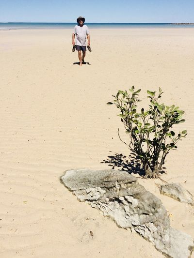 EyeEmNewHere Beach Casual Clothing Figure On Beach Leisure Activity Lifestyles Low Tide Mangrove Tree