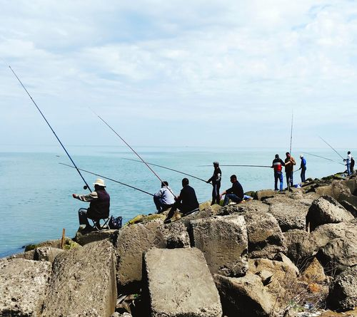 What Do You Think? Fishing Sea Water Fisherman Outdoors Day Sky Nature Adults Only People Fishing Pole Adult Astrology Sign EyeEm Gallery Myprofile Eyeemphoto Beach Nature Beauty In Nature EyeEm Best Shots My Favorite Photo EyeEmBestPics First Eyeem Photo My Photography