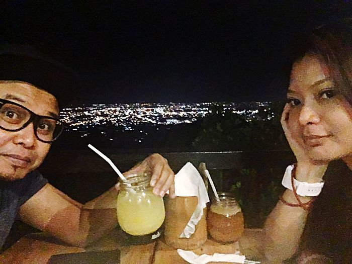 Dinner with the View of Queen City Of The South at Lantaw Native Restaurant in Busay Cebu City, Philippines