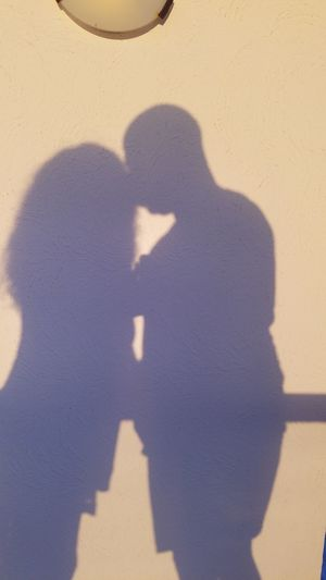 Focus On Shadow Sunlight Human Body Part Togetherness Real People Silhouette Husband&wife