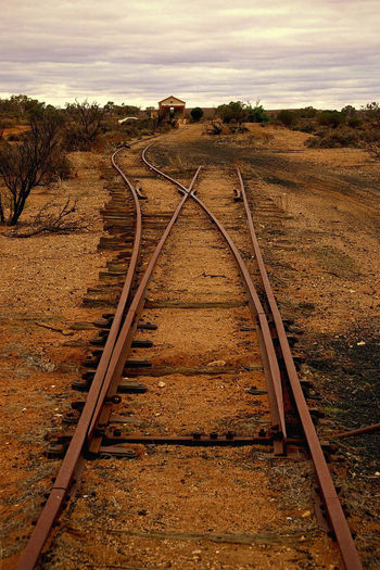 Diminishing Perspective Empty Landscape No People Railroad Track Railway Track Remote Straight