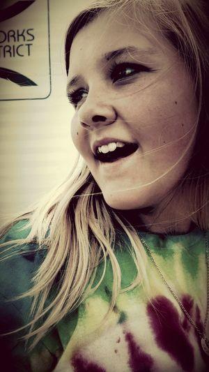 Smile Funny Girl Long Hair Big Brown Eyes
