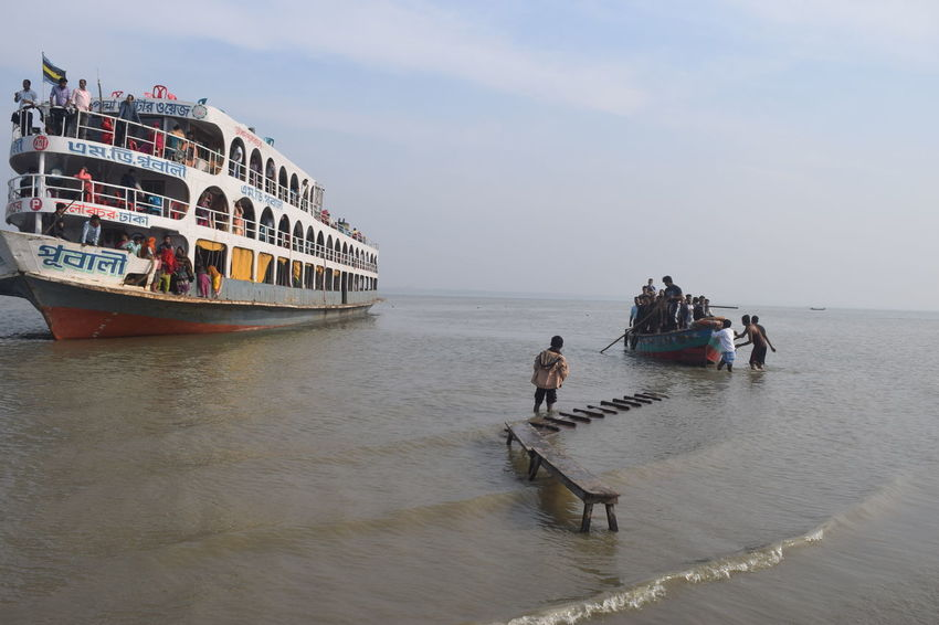 Travel Destinations Nautical Vessel Travel Mode Of Transport Transportation People Sea Outdoors Men Water Adult Day Sky Adults Only Gondola - Traditional Boat Uniqueness EyeEmNewHere Bangladesh Tranquil Scene Silhouette Horizon Over Water Backgrounds Nature Scenics Container Ship Long Goodbye