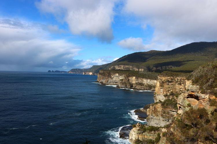 Australia Beautiful Morning Coastline Remarkable Cave Remarkable Rocks Sea And Sky Tasmania TasmaniaAustralia