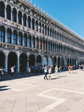 Piazza San Marco, Venice Architecture Building Exterior In Front Of City Life Façade City Repetition Blue Day Famous Place Tourism Italy Venice Venice, Italy Piazzasanmarco Piazza Piazza San Marco
