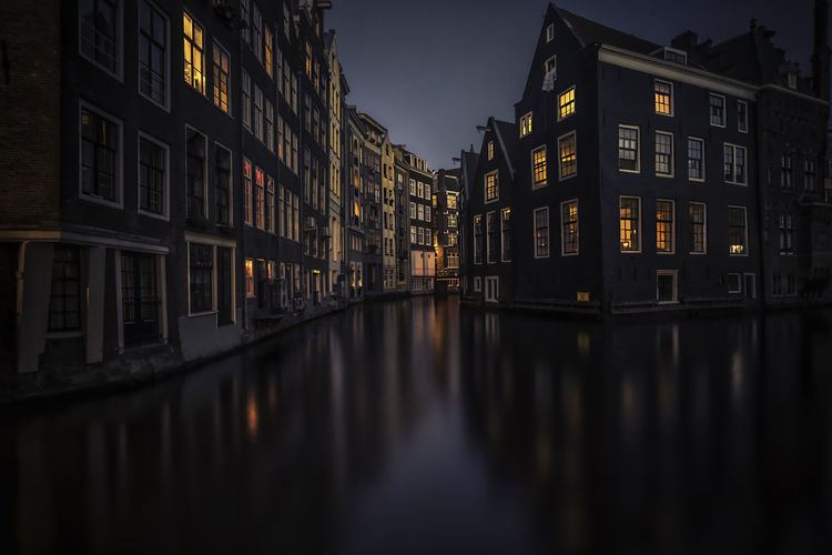 Amsterdam Architecture Building Exterior Built Structure City City Life Colors Cosy Dutch Enjoying Life Evening Sky Holiday Hollna House Illuminated Mood Outdoors Reflection Reflections In The Water Remo SCarfo Sky Touristical Travel Destinations Warm Light Yellow