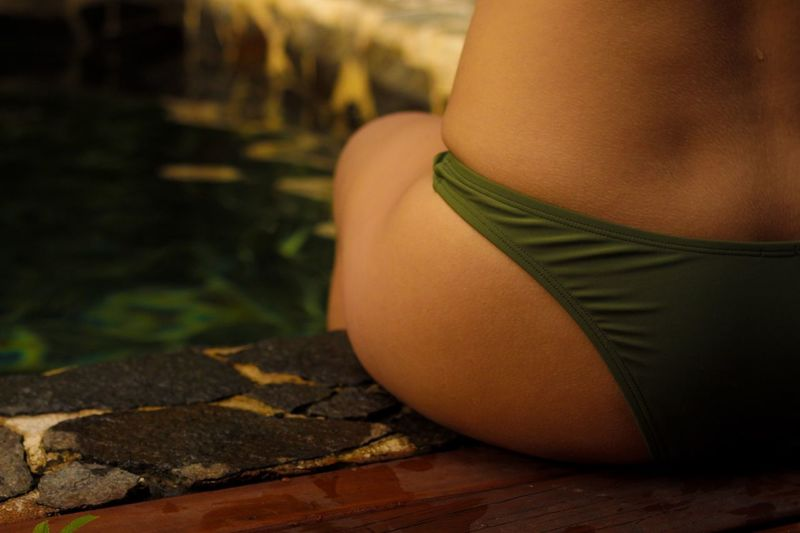 One Person Day Close-up Real People Human Body Part Indoors  Low Section Abdomen People Costa Rica Bikini Lifestyle Beauty In Nature Beach Style Green Leisure Activity Fashion Aerie Swimwear Nature Swimming Pool The Week On EyeEm