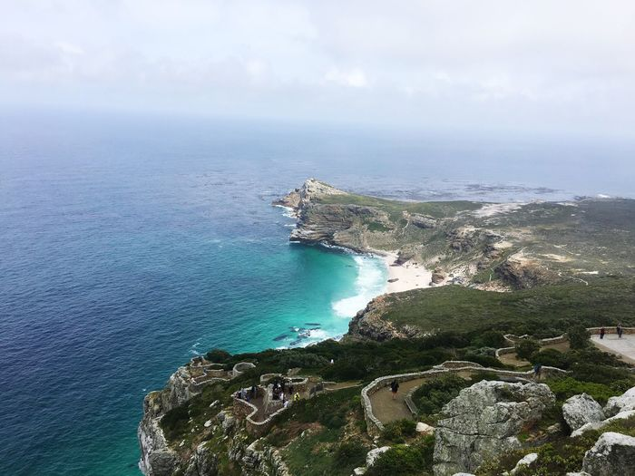 Cape Point Horizon Over Water Tranquil Scene Beauty In Nature Coastline Beach Idyllic Seascape Sea Water Tranquility Hanging Out Rear View Weekend Activities Outdoors