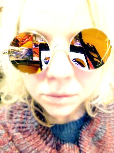 Reflections Portrait Looking At Camera Front View Close-up One Person Indoors  Adults Only Adult People Young Adult day Day Reflection Glasses Indoors