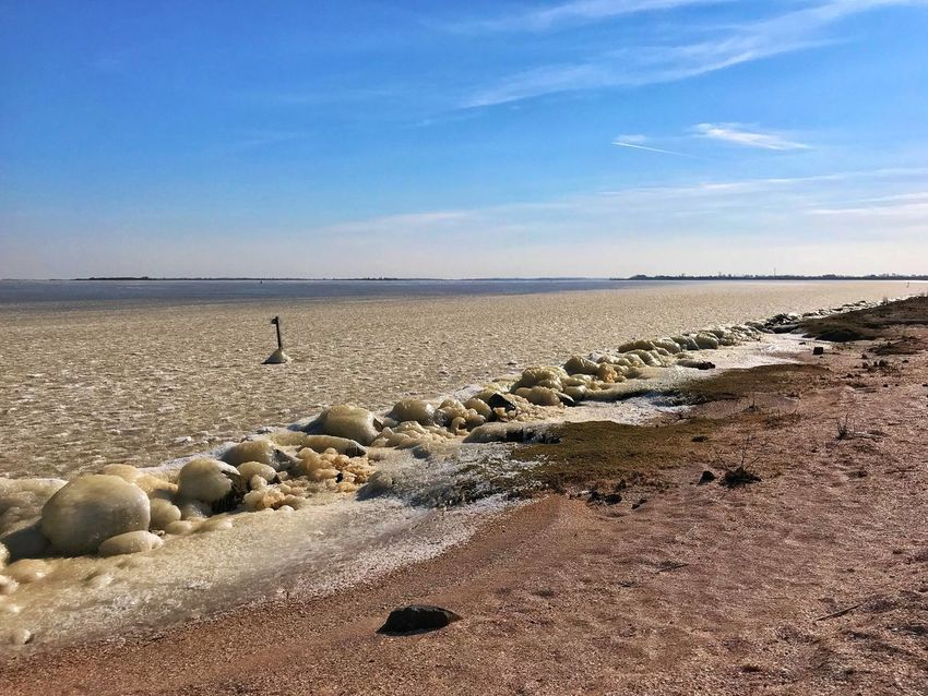 Ijvorming Lauwersmeer IJS Beach Sea Shore Sky Nature Sand Water Beauty In Nature Outdoors Horizon Over Water