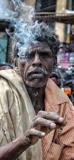 Streetphotography Smoker Old Ways Portrait First Eyeem Photo Cloudy EyeEm Best Shots