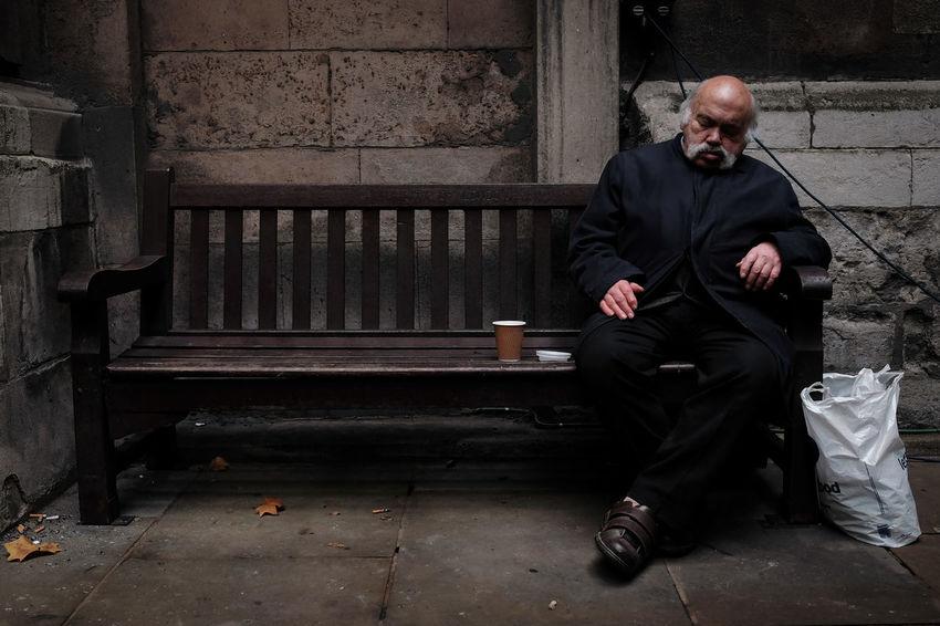 Sleeping John - Adult Day Full Length One Person People Real People Senior Adult Senior Men Sitting Sleeping Suit