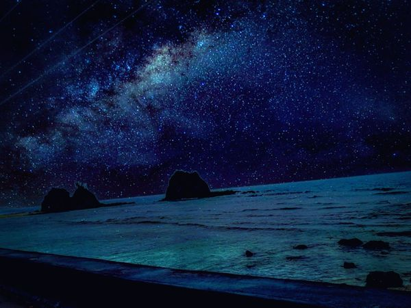 Seamless lights Scenics Beauty In Nature Nature Sea Night No People Sky Tranquility Tranquil Scene Outdoors Travel Destinations Astronomy Space Illuminated Beach Milky Way Star - Space Water Galaxy