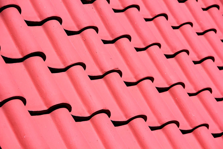 Color Red Roof Tiles In summer in Thailand Red Red Roof Tile Tile Background Safety Brick Structure Home Hotel Building Summer Healthcare Healthy Autumn Living Rural Morning Hot Roof Pink Color Backgrounds Pattern Full Frame Textured  No People Textile Pink Background Close-up Indoors  Day