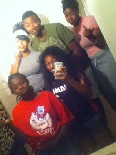 All of us hangin out with the big bro Kahari