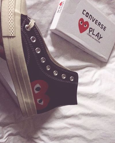 New one ❤️ Converse AllStarshoes Commedesgarcons