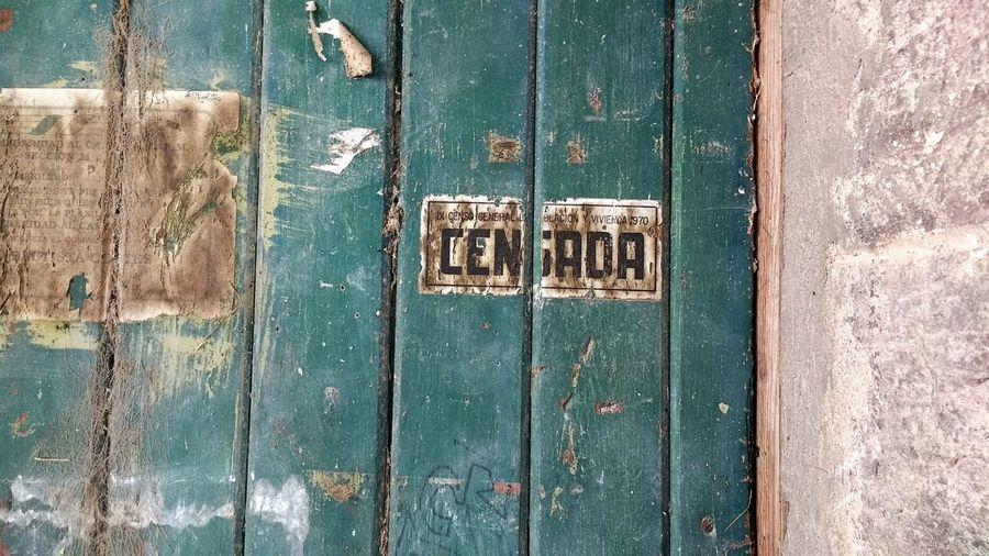 Since 1970 Door Old Door Tlaxcala Mexico 🇲🇽 ❤