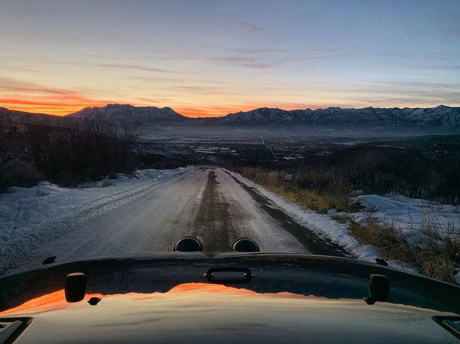 hit 30° today. felt like a broiler. 🔥 Mountain Road Wasatch County Utah Wasatch Back Transportation Sky Mode Of Transportation Sunset Car Nature Windshield