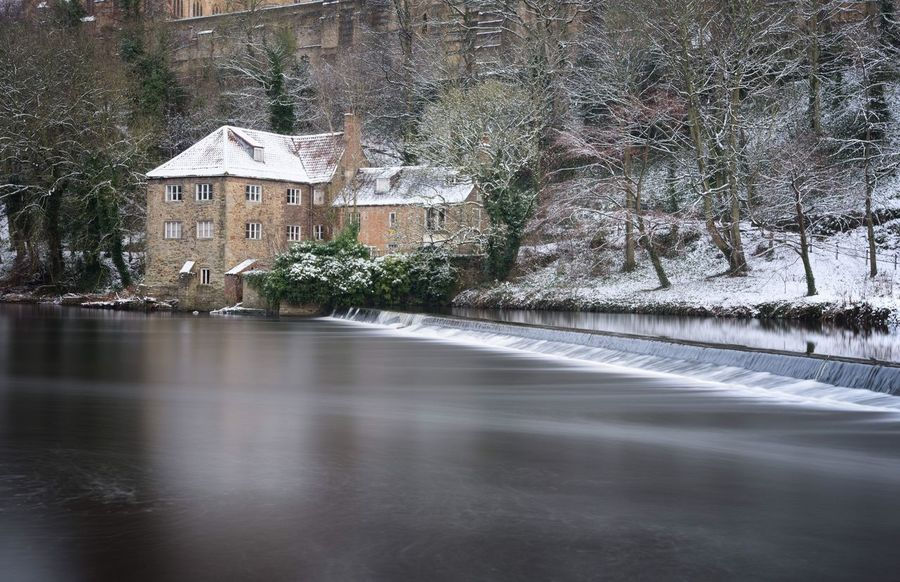 Durham City Fulling Mill Winter Snow Tree Winter Water Nature Snow No People Beauty In Nature Cold Temperature Outdoors Day