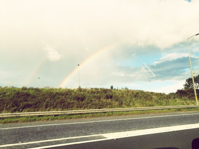 Road Rainbow Cloud - Sky Day No People Outdoors Sky Twin Rainbows Uk Northwest First Eyeem Photo