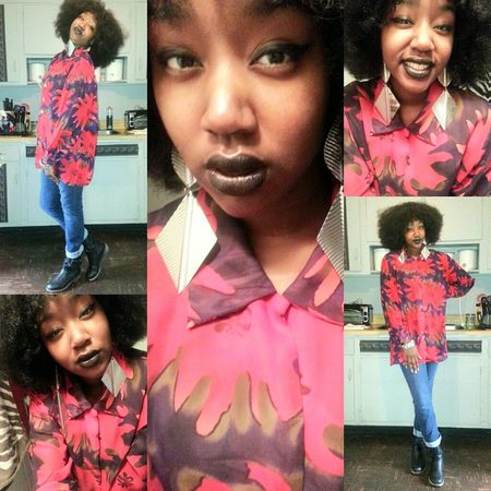 #outfit #OOTD Black Lipstick  Today :) Dark And Lovely